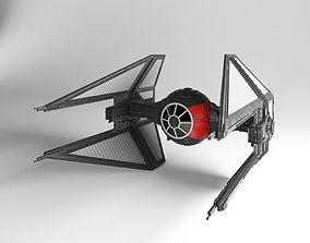 TIE-Interceptor First Order Star Wars 3D