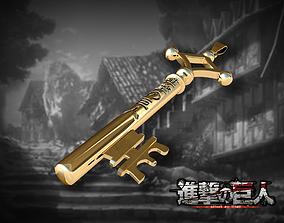 3D print model Key - Shingeki no kyojin