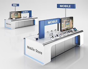 Cellular Sale Stand 3D model