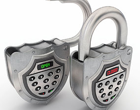 3D Electronic padlock
