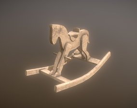 3D model Low Poly Rocking Horse