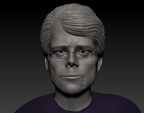 Stephen king Face bust 3d Print Ready
