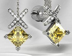 5mm Princess Stud Gold Earrings 3dprint 3D print model