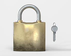 Lock and key 3D model