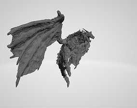 Dragon flying stationary 3D print 3D model