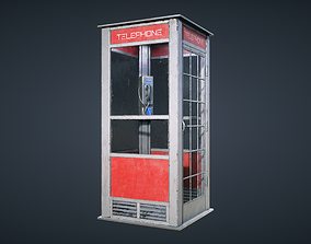 3D model realtime Telephone Booth