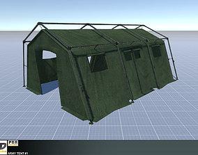 3D model Army Tent 1
