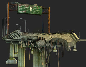 3D asset Broken Bridge