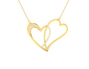 love Women double heart pendant 3dm render detail