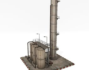 Refinery Unit 3D asset