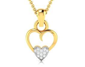 jewellery Women heart pendant 3dm render detail