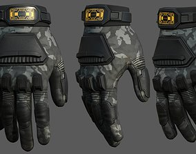 Gloves military combat soldier protection 3D model 1