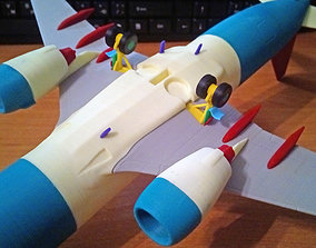 Boeing 737-800 Split Scimitar Landing gear down 3D 1
