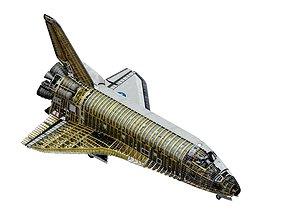 3D SPACE SHUTTLE Atlantis Interior and Exterior