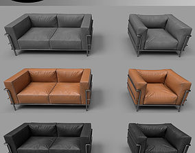 3D model Modern Furniture Set 03