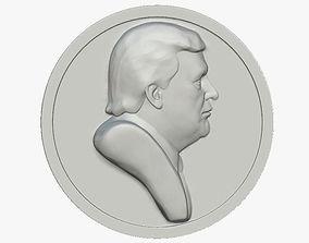 Trump Pin Button 3D printable model