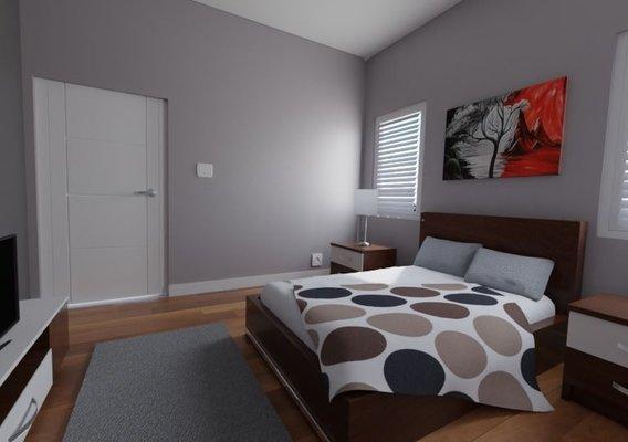 Realistic Bedroom Interior