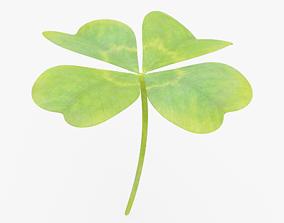 3D asset Four Leaf Clover