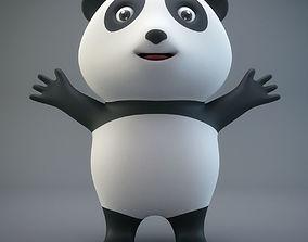 3D asset Cartoon Panda