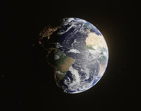 3D Planet Earth with dynamic day night cycles