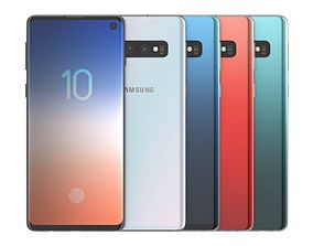 3D Samsung Galaxy S10 All Color phone