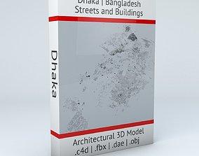 bangladesh Dhaka Streets and Buildings 3D model