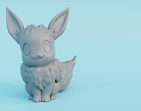3D printable model Male Eevee with floofy hair