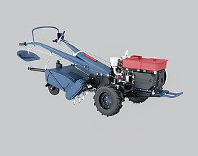 cultivated land machine 3d model