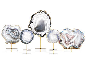 3D model Decorative set of agate slices
