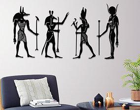 3D printable model ANCIENT EGYPTIAN GODS WALL ART