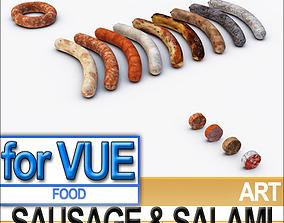 3D model Sausage Salami A