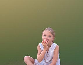 3D model Lilly 10251 - Sitting eating Girl