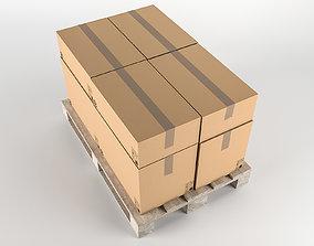 3D asset Pallet cardboard box