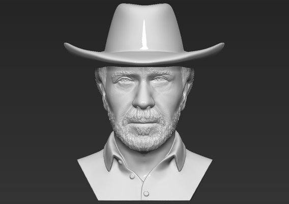 Chuck Norris bust for 3D printing