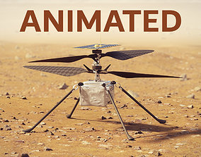 Ingenuity Helicopter takeoff animation 3D animated