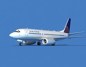 Boeing 737 MAX 7 United Airlines 3D