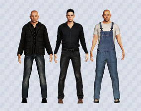 3D Civilian character pack