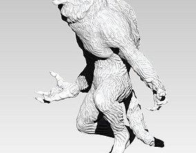 WareWolf statue Realistic 3D print model