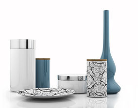 3D Design Cans Vase and Plate
