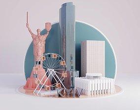 Kyiv city 3D model