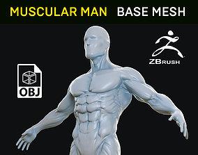 Muscular Man - Base Mesh 3D