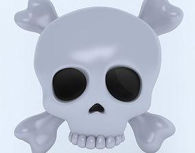 3D model SKULL AND CROSSBONES icon