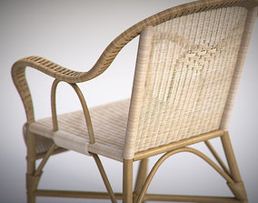 3D Vintage Wicker Chair and Sofa