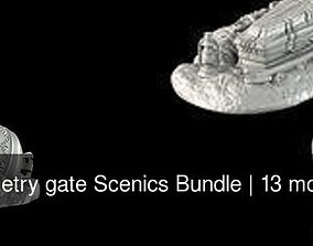 3D model Cemetry gate Scenics Bundle games-toys