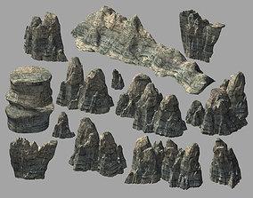 Terrain-Mountain-Stone Mountain 0741 3D model