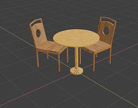 3D asset Dinner table