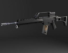 3D model Heckler Koch G36 assault rifle european