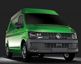 3D model Volkswagen Transporter Van L1H2 T6 2017