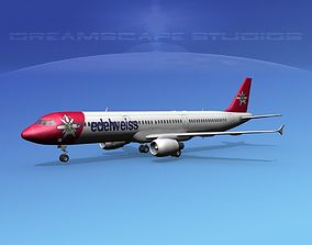 Airbus A321 Edelwiess 3D model