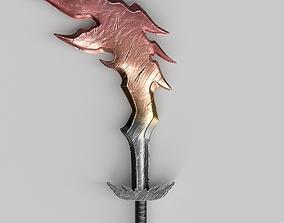 3D model VR / AR ready Fire sword